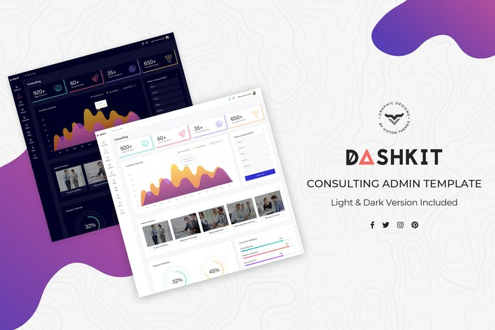 Thumbnail for Consulting Admin Dashboard UI Kit