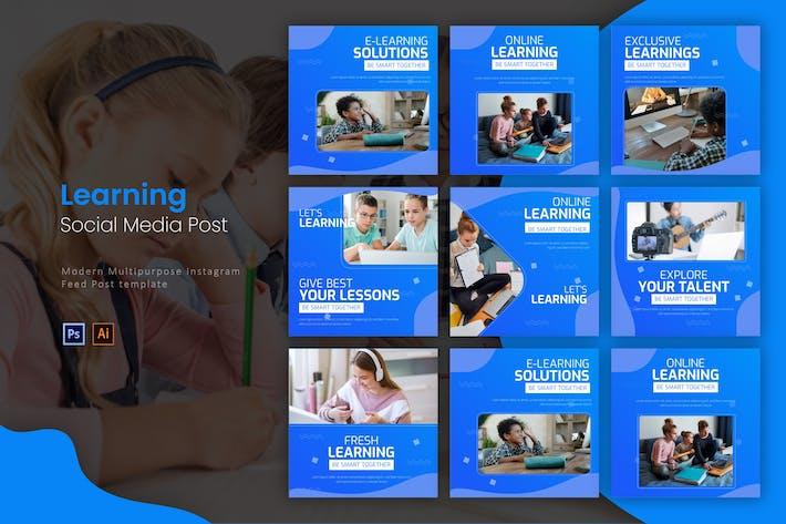 Thumbnail for Online Learning | Instagram Post