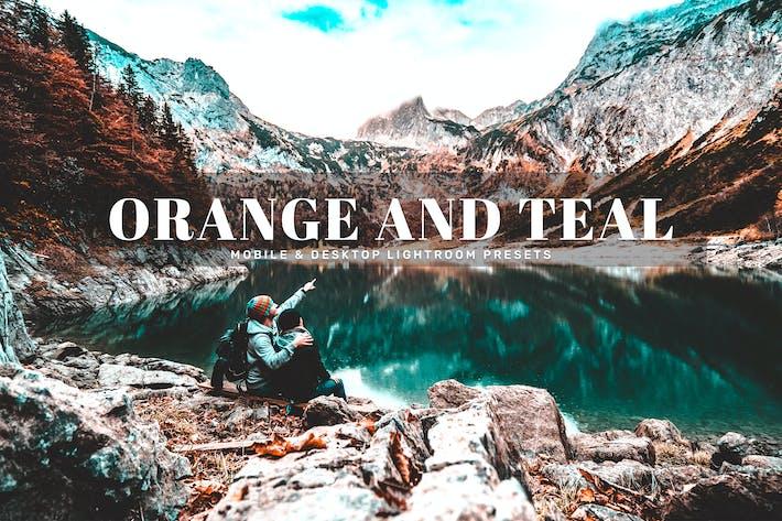 Thumbnail for Presets de iluminación Móvil y Escritorio, color naranja y verde azulado