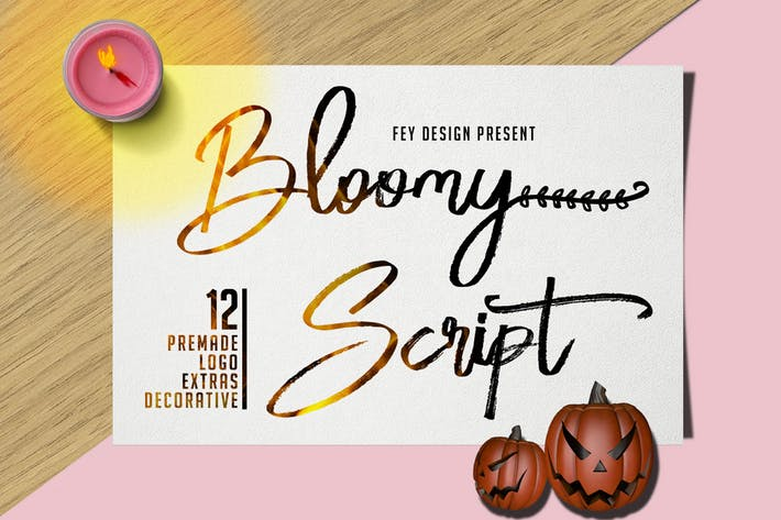 Thumbnail for Bloomy Script - Handwritting Font