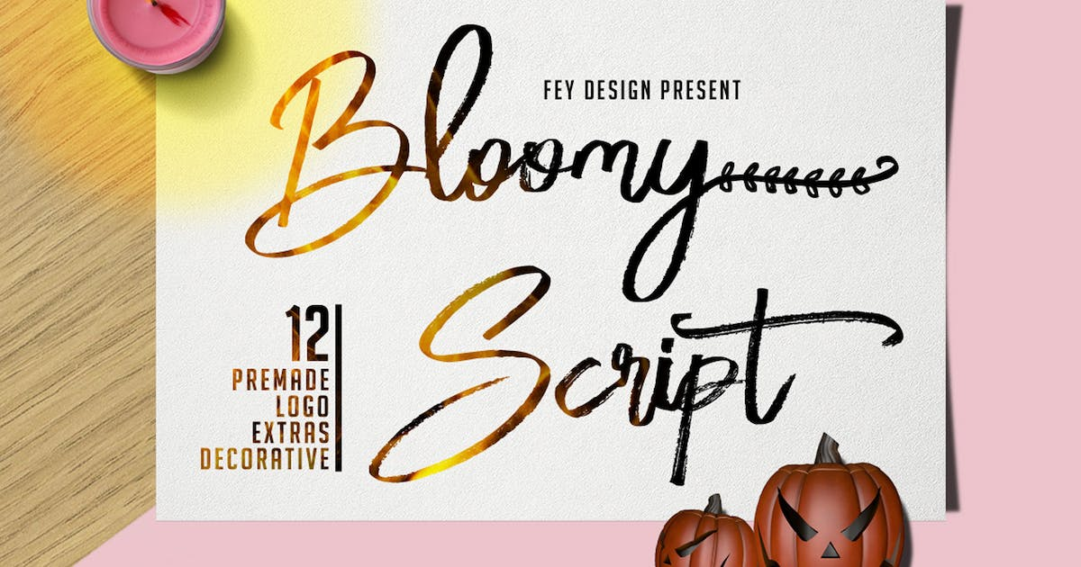 Download Bloomy Script - Handwritting Font by Voltury