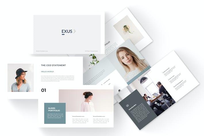 Thumbnail for Exus - Business Google Slides Template