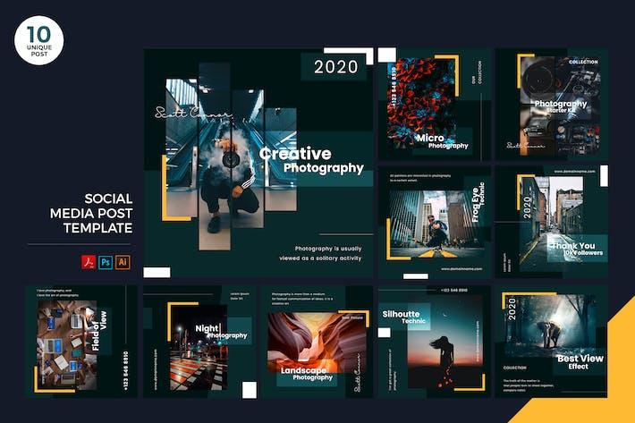 Thumbnail for Creative Photography Social Media Kit PSD & AI