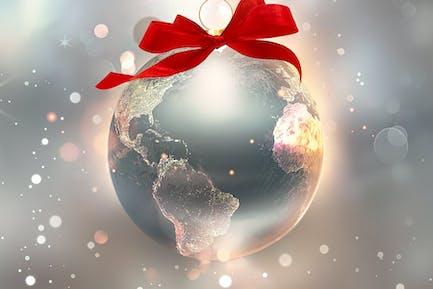 shiny world as a ball