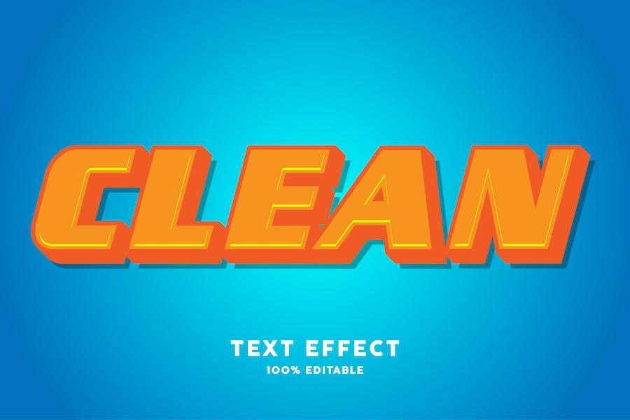 Clean blue orange text style effect