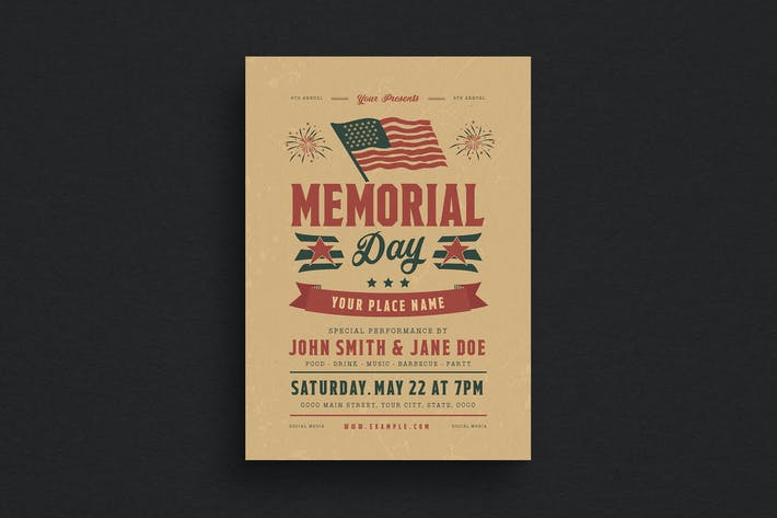 Thumbnail for Memorial Day Event Flyer