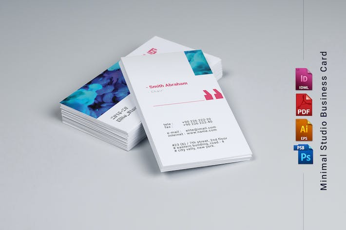 Cover Image For Studio Business Card