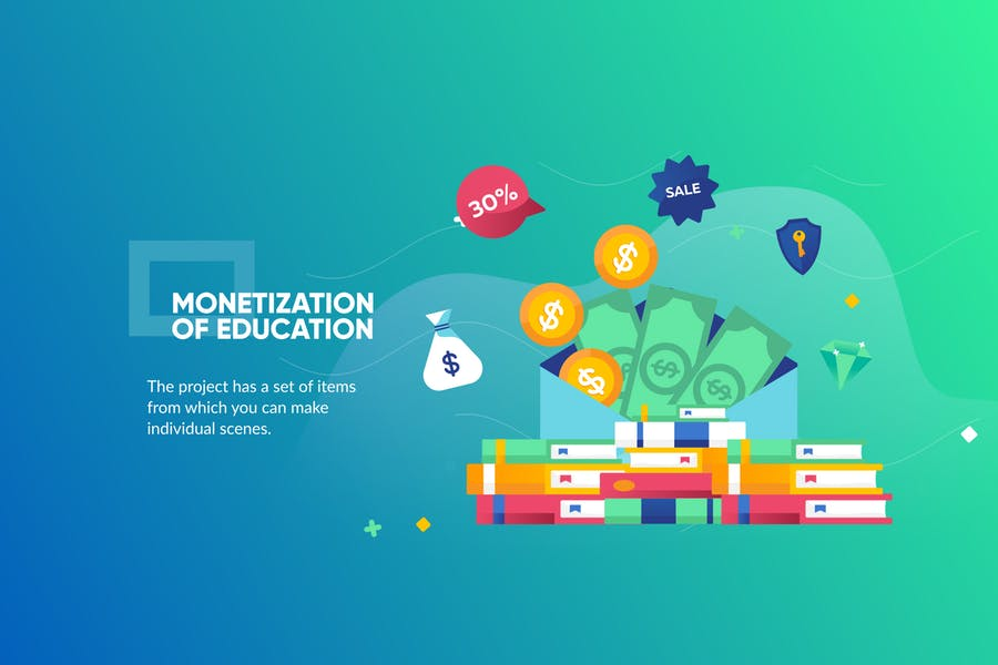 Monetization Education Banner & Landing Page