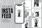 Vlogu Magazine Instagram Feed Post Template