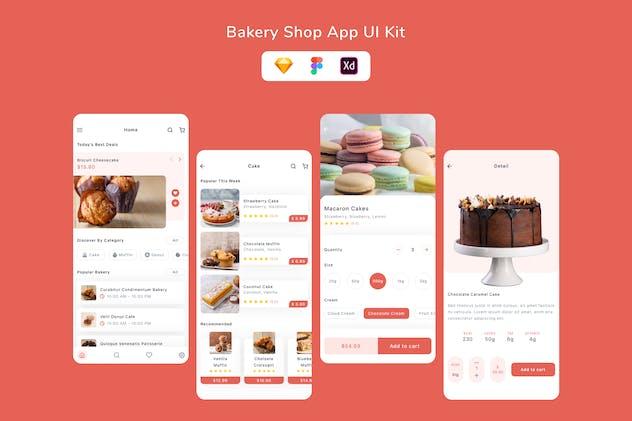 Bakery Shop App UI Kit