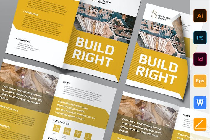 Thumbnail for Construction Company Brochure Bifold