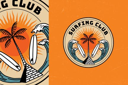 Surfing Club Summer Badge