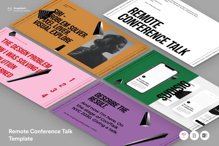 Thumbnail for Remote Conference Speech Template Presentation