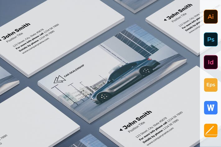 Cover Image For Car Dealership Business Card