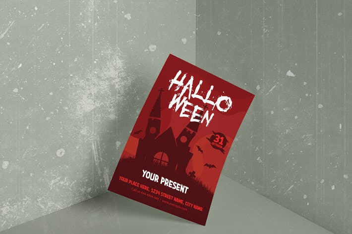 Thumbnail for Poster Halloween A4 Template - HUEN