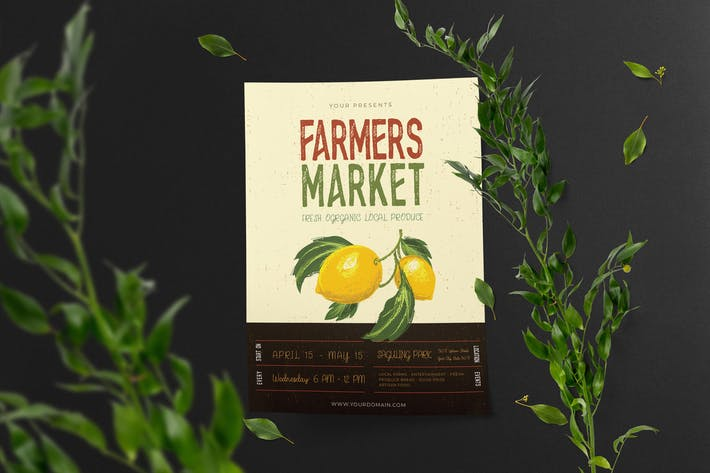 Thumbnail for Farmers Market Vector  Template