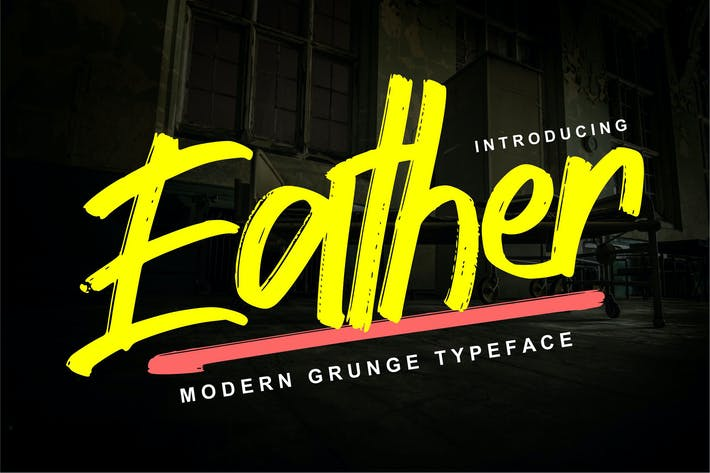Thumbnail for Eather | Modern Grunge Typeface