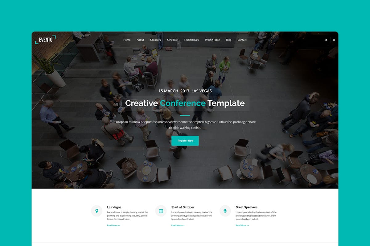 Evento - PSD Conference & Event Template by Morad on Envato Elements