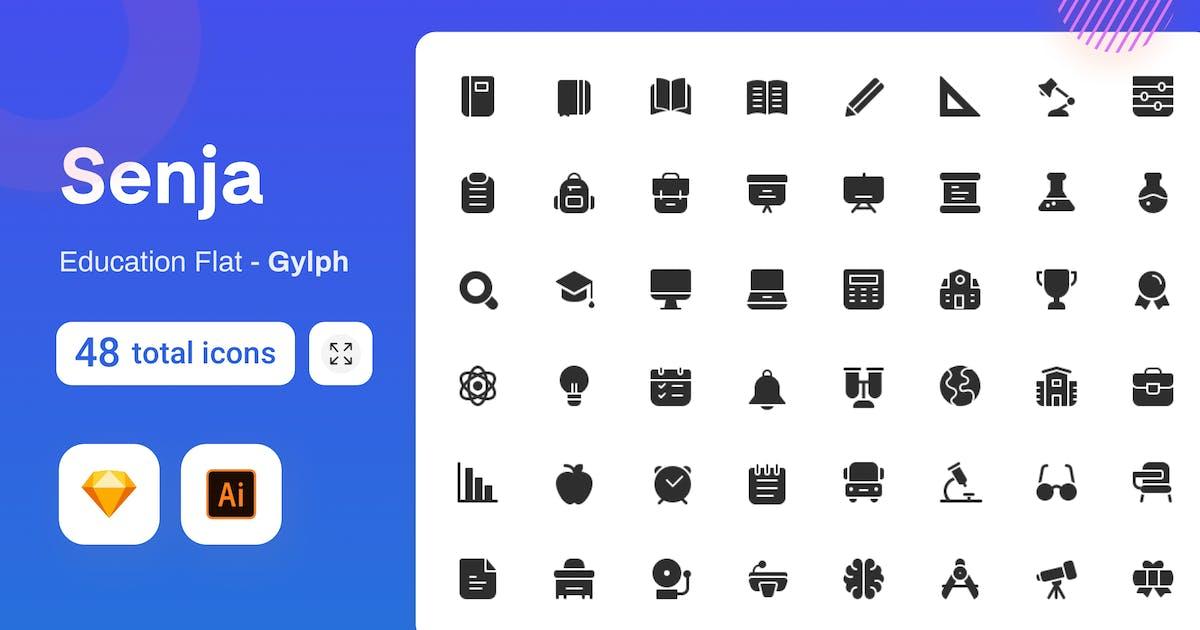 Download Gylph Senja - Education by sudutlancip