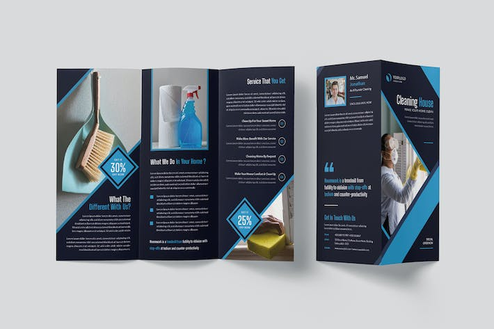Cleaning House Trifold Brochure