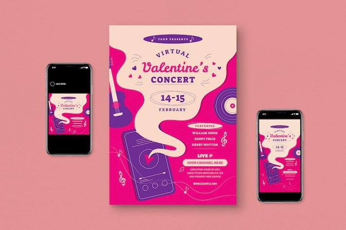 Thumbnail for Valentine Concert Event Flyer Set