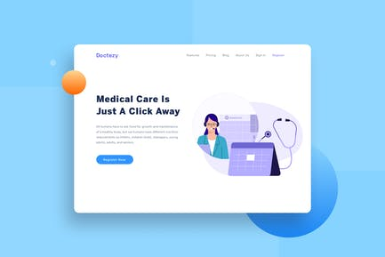 Healthcare Booking Schedule Landing page