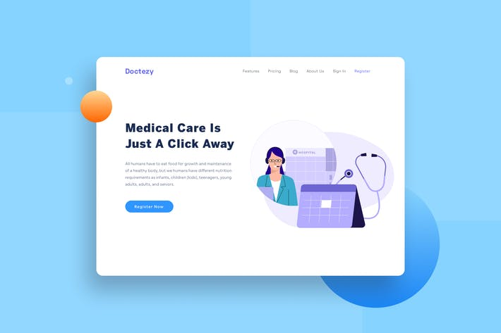 Thumbnail for Healthcare Booking Schedule Landing page