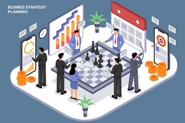Thumbnail for Business Strategy Planning - Ilustration Template