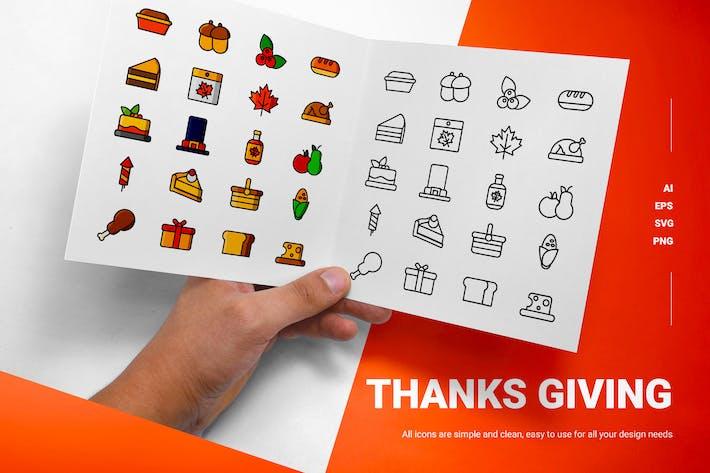 Danke geben - Icons