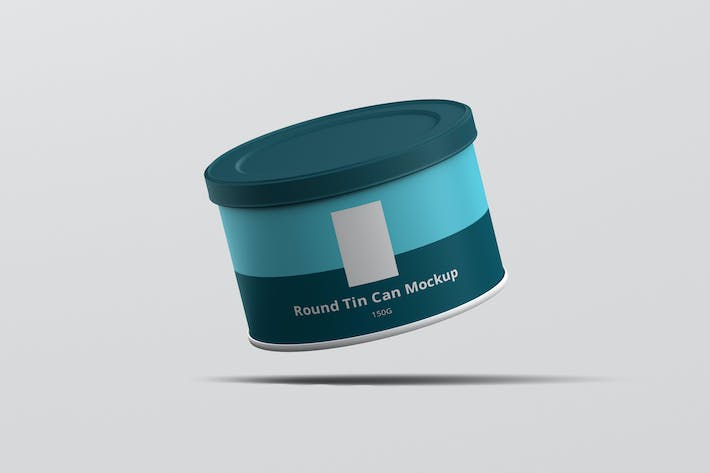 Thumbnail for Tin Can Mockup Round Flat Size