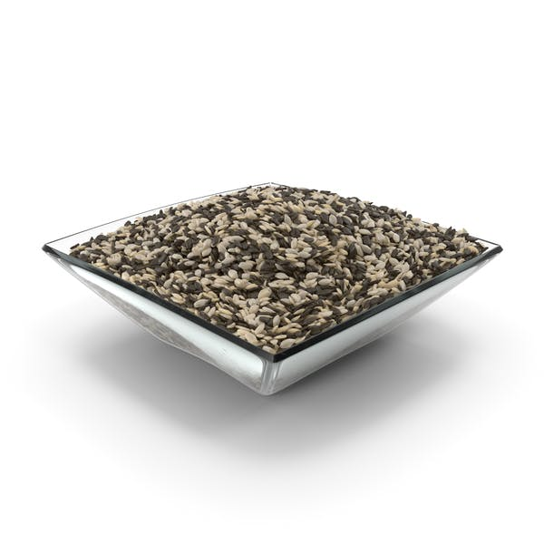Square Bowl with Mixed Sesame Seeds