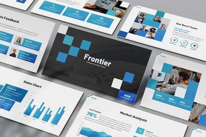Thumbnail for Frontier - Pixelated Powerpoint Template