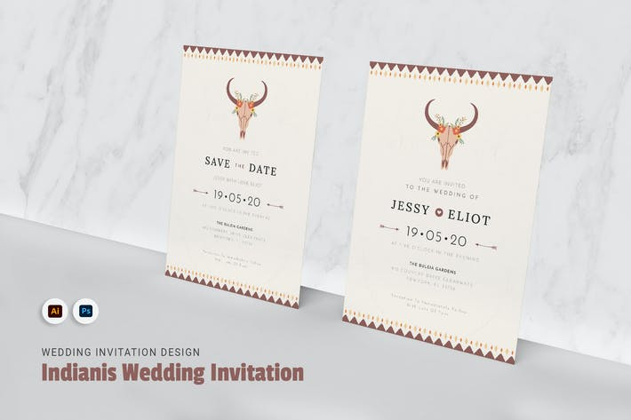 Thumbnail for Indianis Wedding Invitation