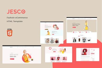 Jesco - Mode-E-Commerce-HTML-Vorlage