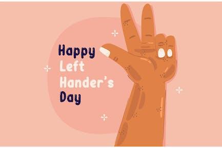 Left Hander's Day Concept Illustration