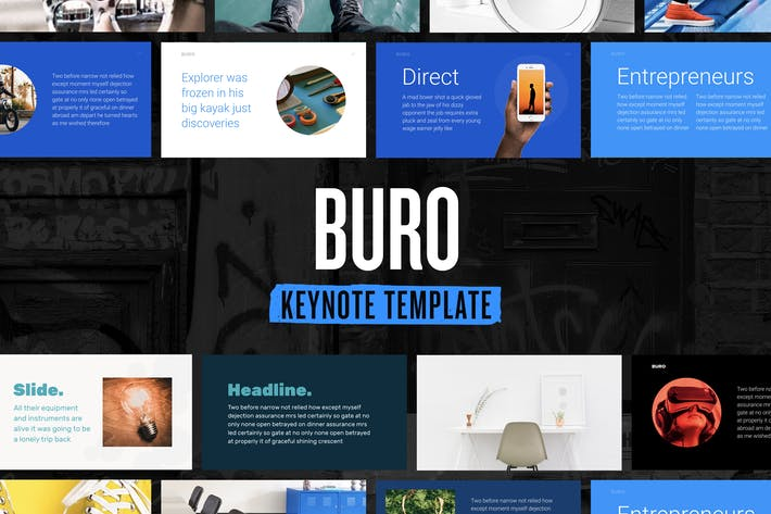 Thumbnail for Buro — Keynote Presentation Template