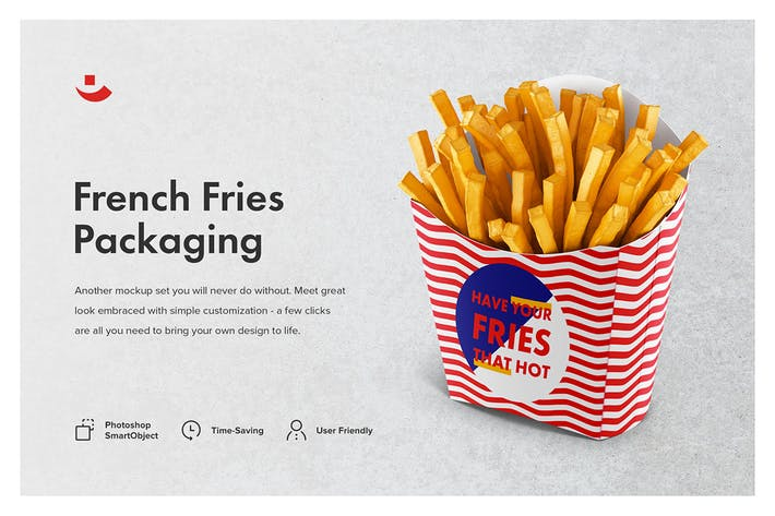 Thumbnail for French Fries Packaging Mockup Set