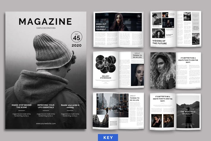 Thumbnail for Magazine Layout Keynote Template