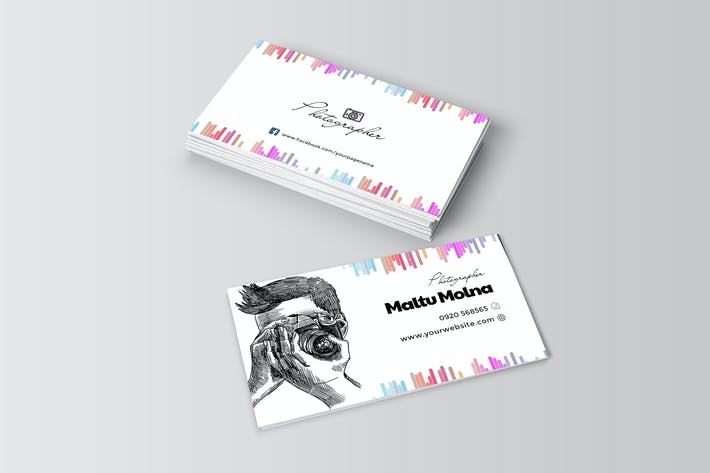 Cover Image For Professional Photographer Visiting Card Template