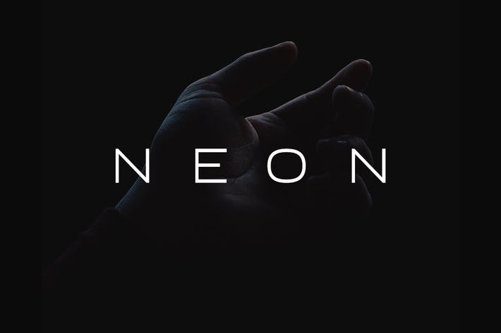 Thumbnail for NEON - Minimal & Modern Display Typeface