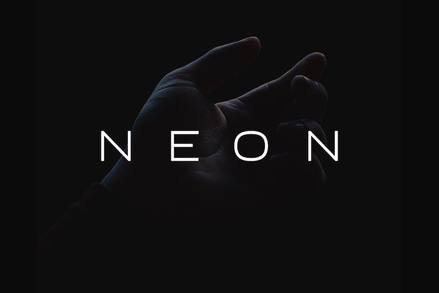 NEON - Minimal & Modern Display Typeface