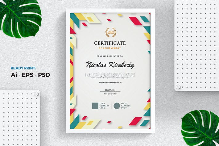 Thumbnail for Colorful Certificate / Diploma Template