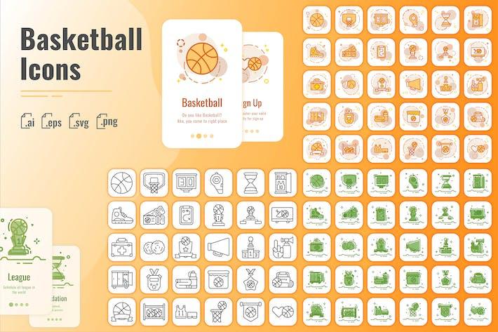 30 Gliederung Iconset Basketball mit 3 Stilen