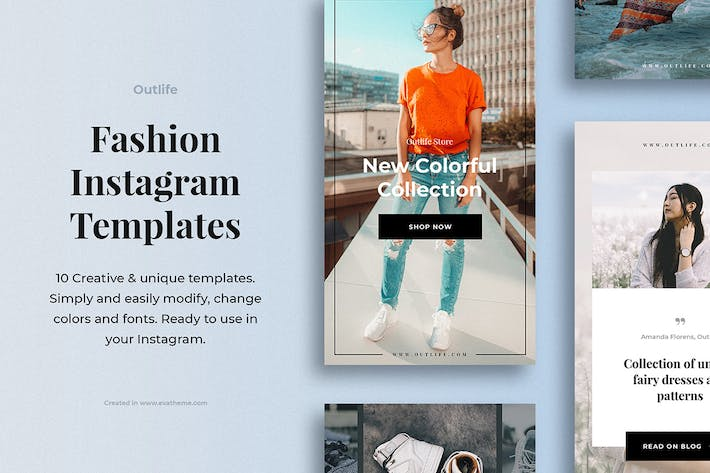 Thumbnail for Outlife Fashion Instagram Templates