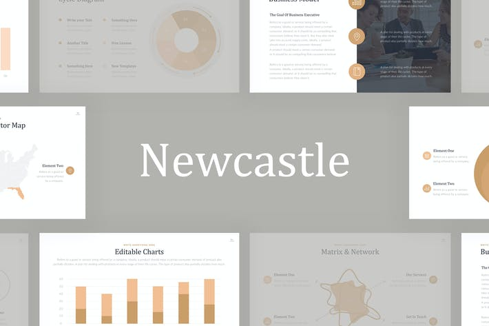 Thumbnail for Newcastle Professional PowerPoint Template
