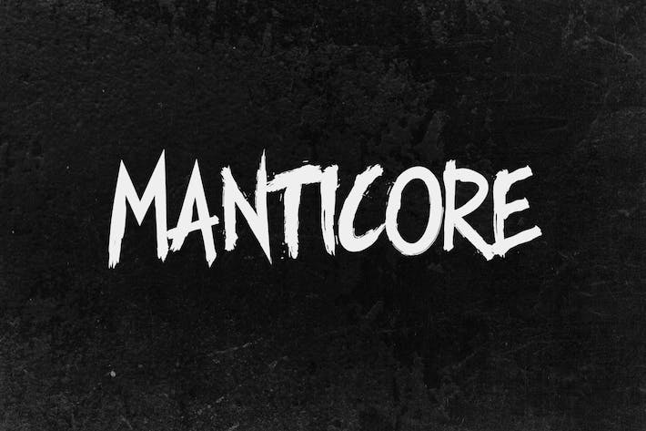 Thumbnail for Manticore - Brush Font
