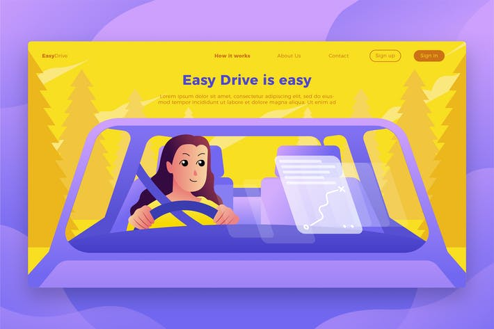 Thumbnail for EasyDrive-Banner & Landing Page