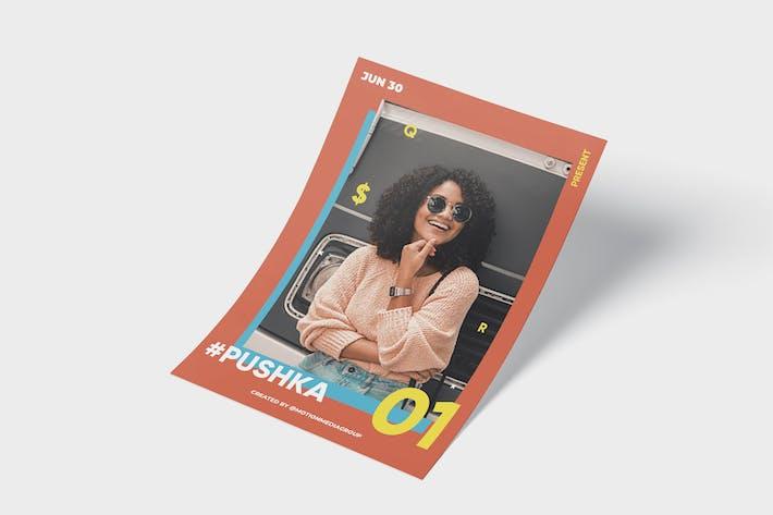 Thumbnail for Плакат плоской моды