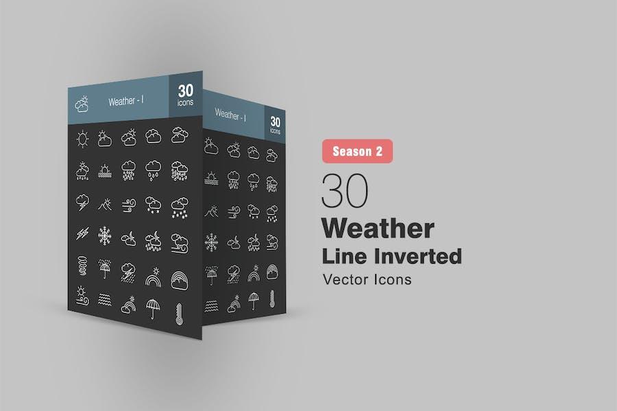 30 Wetter Linie Inverted Icons Season II