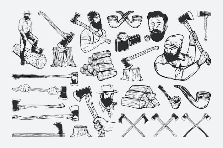 Thumbnail for Lumberjack Drawing Set
